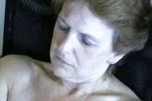 62 years old wife masturbating. non-professional