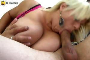 super hot milf with massive milk cans gets fucked