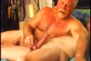 juvenile hunky dude gets his balls worked over by