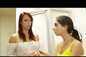 petite trinity st. clair gets a oral-sex lesson
