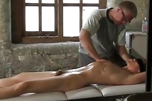 great looking gay lad gets tied while daddy plays