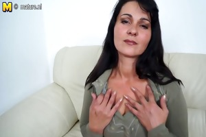 hot mother masturbating when she is is all alone