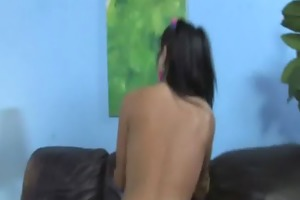 just see my horny daughter drilled by black 6