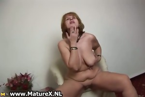 horny old housewife is satisfying part4