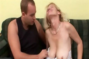 older mamma with large tits and shaggy pussy