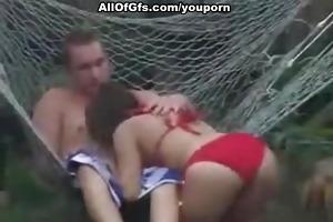 astonishing sex act in hammock
