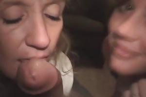 mother daughter crack whore oral job team