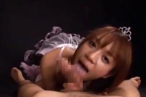 asian princess babe gives a hawt fellatio part1