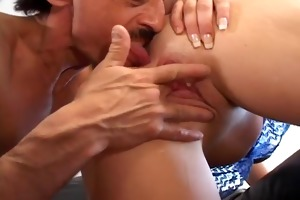 sexy youthful blondie enjoys old cock
