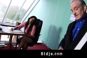 horny student chick fucks with her old teacher