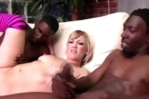 interracil candy monroe gets double facial