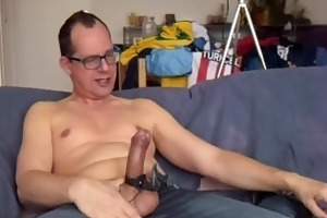 electro stim in jeans, watching czech pornboys