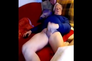 silver senior euro dad wanks his big weenie on