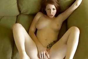 hot young redhead amateur gives her guy a