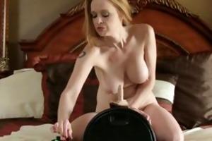 sex machine makes bigtit mama cum so hard