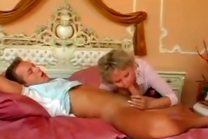 breasty hairy german mature milf eating juvenile