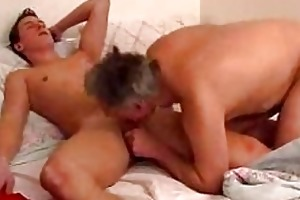 mature gay daddy gives youthful boy a oral-sex in