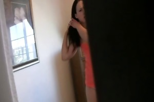 step sister caught spying and jerking