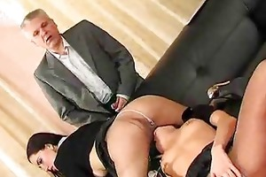 old guys and cuties in hose