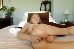 golden-haired model plays with her toys