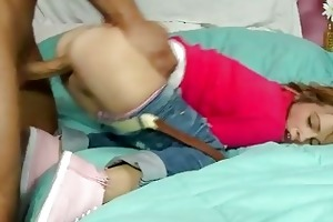 youthful schoolgirl laney boggs get a dick behind