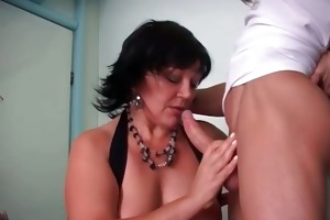 chubby old mother i sucks big penis and get part6