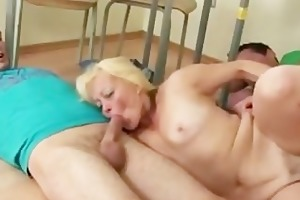 students come on their mature teacher