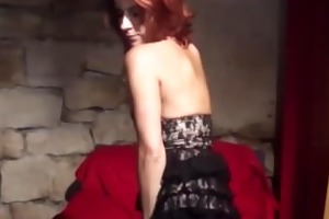 horny redhead d like to fuck receives fingered