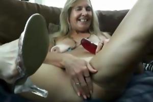 sexy hot older vanylla gives a foot job